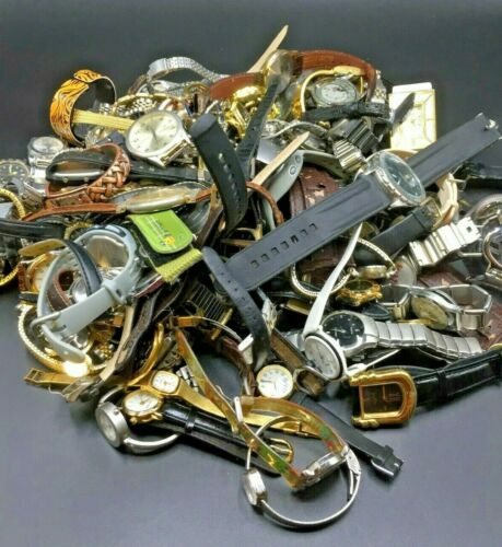 Lot of Watches- Use for Parts, Bands, Watch Faces, Possible Hidden Treasure