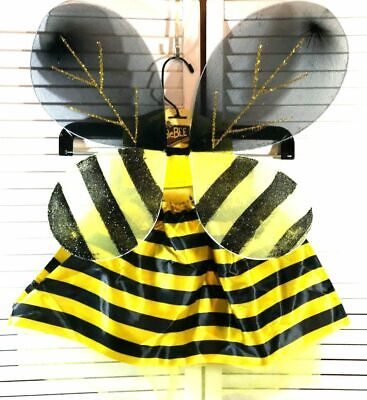 Bumble Bee Ballerina Costume Fancy Dress Outfit 3-5 Years Skirt Wings Childrens