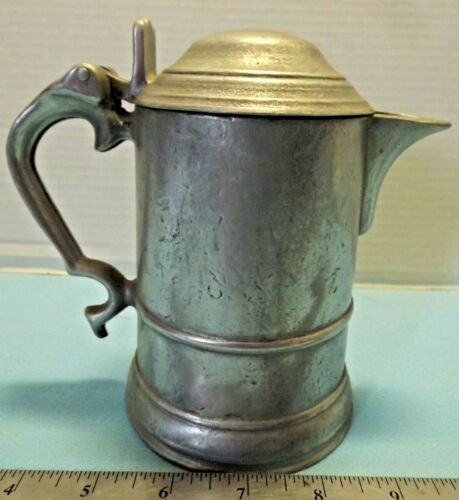 Antique Pewter Lidded Small PITCHER