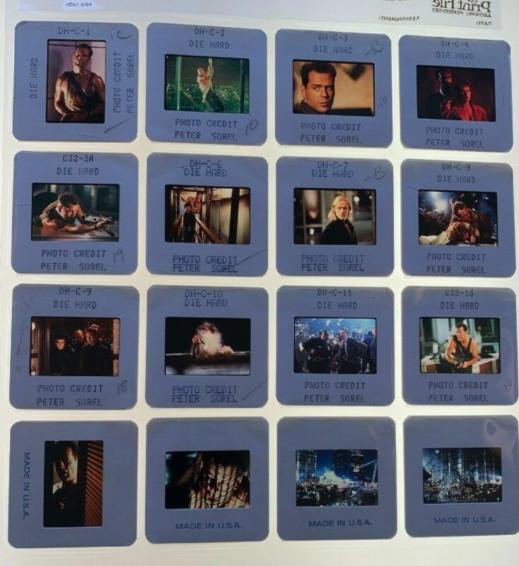 16 Die Hard Movie 35mm Photo Slides Bruce Willis Promo Vintage Lot #1