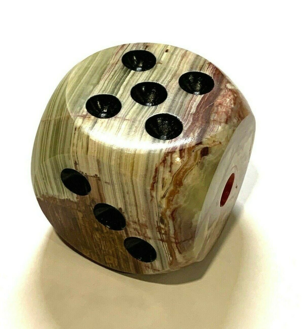 Large Onyx Dice Home Decor Natural Stone - $29.25