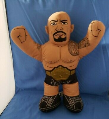 "2012 Mattel WWE THE ROCK Wrestling Brawlin Buddies 17"" Plush - DON'T TALK"