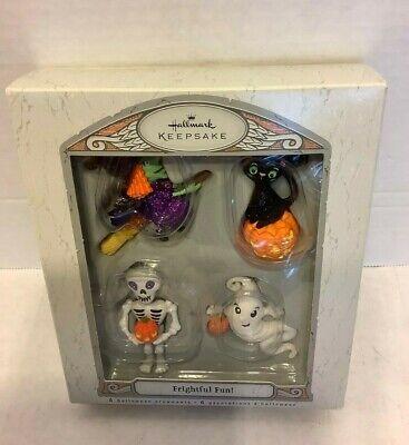 Halloween Hallmark Keepsake Frightful Fun Lot of 4 Ornaments Set 2007 Ghost
