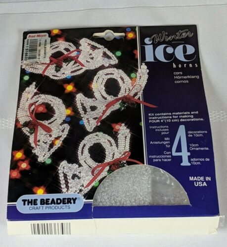 The Beadery WINTER ICE HORNS Ornament/Decorations Bead Kit