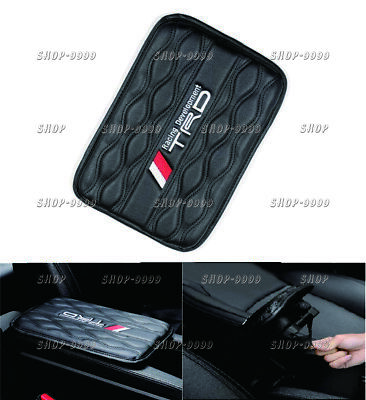 JDM TRD Leather Car Center Console Armrest Cushion Mat Pad Cover