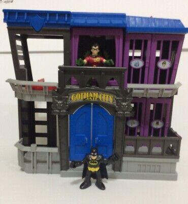 Fisher Price Imaginext Batman GOTHAM CITY JAIL Playset With 3 Figures