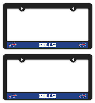 Buffalo Bills Accessories - (2) BUFFALO BILLS Matte Black License Plate Frames nfl car football accessories