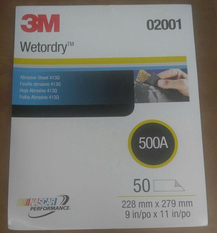 "3M Wetordry Abrasive Sheet 413Q, 9""×11"" 500A, 50cnt, 02001"
