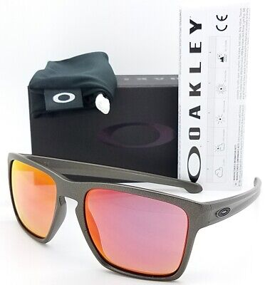 NEW Oakley Sliver XL sunglasses Lead Torch Iridium 9341-08 AUTHENTIC red ruby for sale  Shipping to Canada