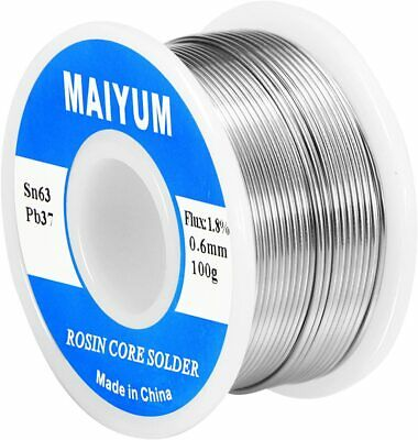 Maiyum 63-37 Tin Lead Rosin Core Solder Wire For Electrical Soldering 0.6mm 100g