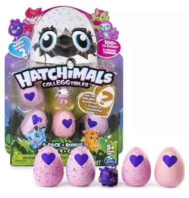 Hatchimals Colleggtibles Egg 4 Pack   Bonus Season 2 W  Golden Hatchimal Chance