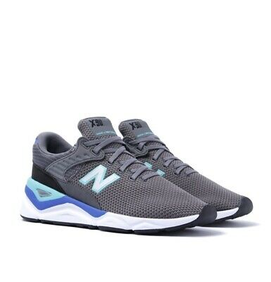 NEW BALANCE X-90 GREY & BLUE TRAINERS, SIZE 9