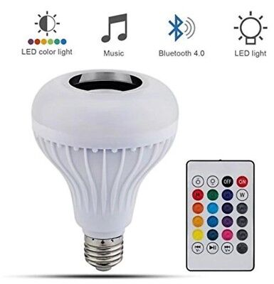 Bluetooth Smart LED Light Bulb E27 Speaker Music RGB Color Remote Control Lamp 1 for sale  Shipping to India