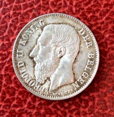 Belgique - Léopold II'-  Magnifique  Monnaie de 50 Centimes 1898 VL