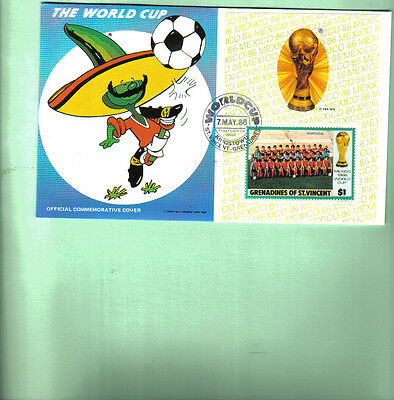1986 world cup first day cover featuring portugal team