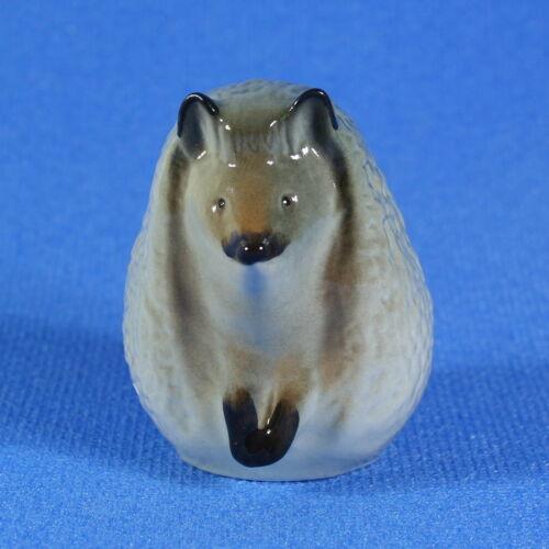 Hedgehog Lomonosov Porcelain Figurine Russia USSR LFZ