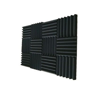 24pk Charcoal Premium 2 inch Acoustic Foam Panel Tile Wall Studio Sound Proof