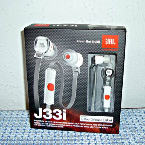 NEW JBL J33I PREMIUM IN-EAR HEADPHONES (WHITE)