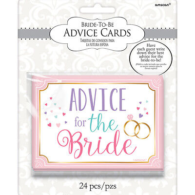 24 Marriage Advice For The Bride Cards Wedding Reception Hen Party Night Favours