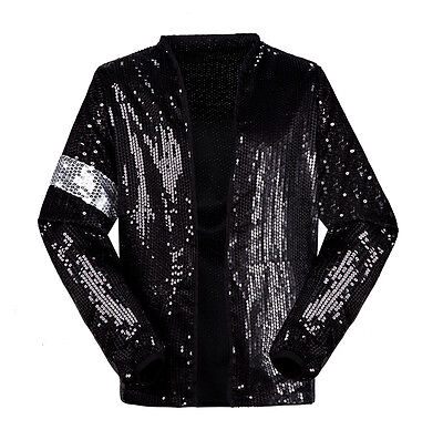 NEW Michael Jackson MJ Billie Jean Costume Dress Jacket Coat Billie Jean Glove