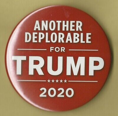 """/""""Just Say No To Socialism/"""" Campaign Button 2020 Donald Trump 3/"""" Pin 35"""