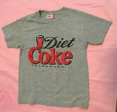 Vintage gray Diet Coke T Shirt  90s  Coca Cola Made in USA Size S
