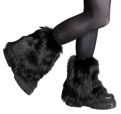 PAWSTAR Pony Puff Leg Warmer furry rave dance fluffies music black [BK]2590