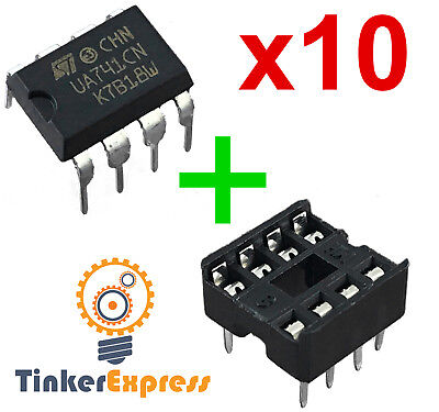 10pcs Ua741cn Wsocket Opamp Ua741 Lm741 Ic St Dip-8 Operational Amplifier - Usa
