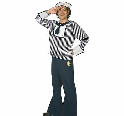 Sailor Fancy Dress Costume Navy Uniform Outfit  /  No Hat /  Mens Medium 32-34