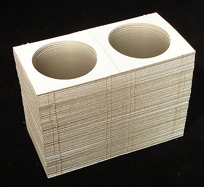 100 2x2 Silver Dollar Mylar Cardboard Coin Holder Flips - Coin Supplies on Rummage