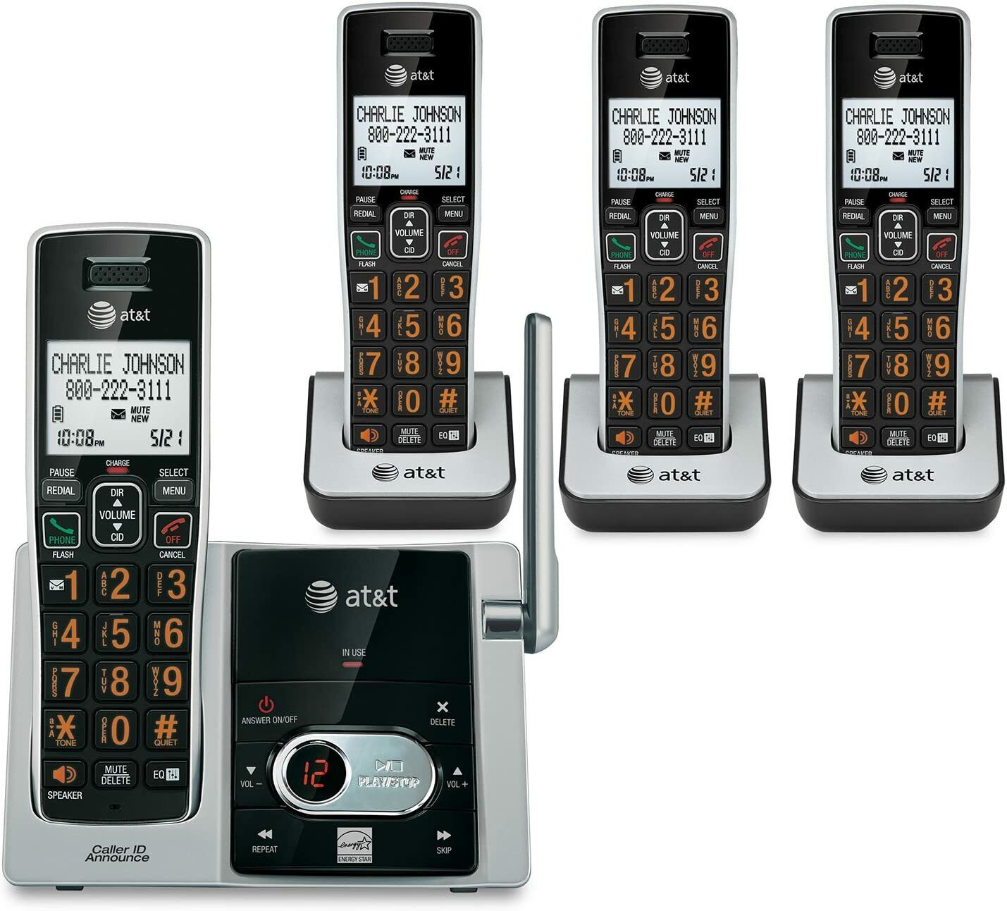 AT and T CL82413 DECT 6.0 Cordless Phone with Answering Syst
