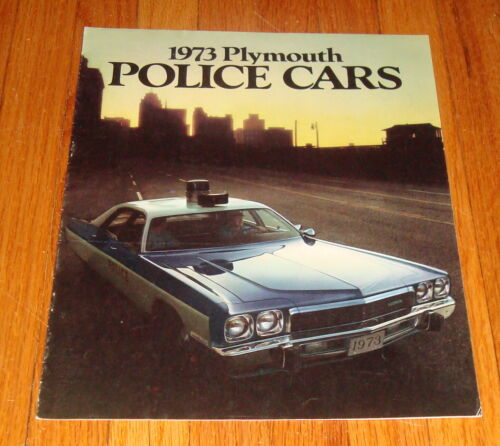 Original 1973 Plymouth Police Cars Sales Brochure Fury Satellite