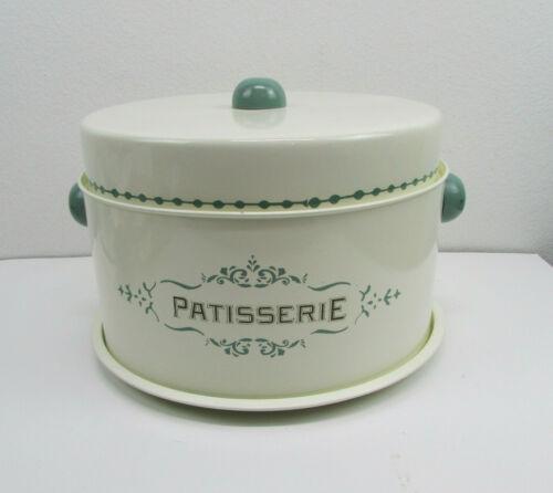 World Market 3 Pc Metal Cake Pie Carrier Keeper Retro Jadeite Cream Patisserie