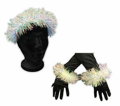 Iridescent Angel Halo Headband & Bracelet Cuffs Adult Child Costume Accessory #2](Angel En Halloween)