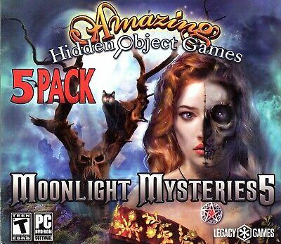 Computer Games - Amazing Hidden Object Games Moonlight Mysteries 5 PC Game Window 10 8 7 Computer