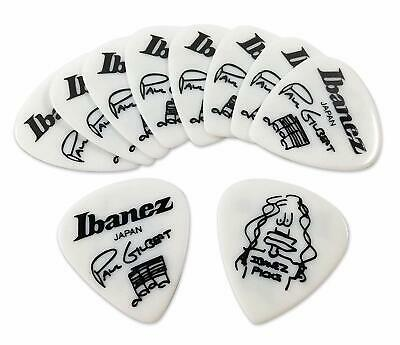 Ibanez Japan Guitar Bass Pick Paul Girbert Model 1000PG-WH 10pcs for sale  Shipping to Canada