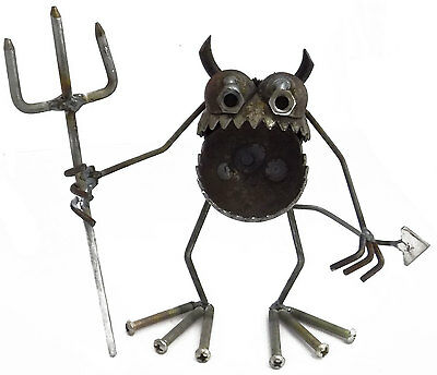 Sugarpost Gnome Be Gone Mini Devil Welded Metal Art Made in USA