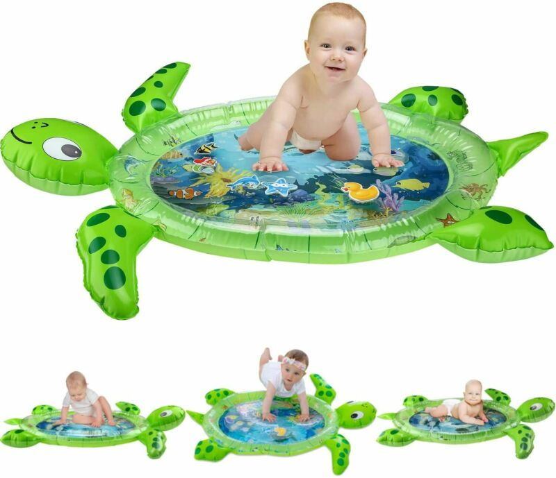 Tummy Time Water Mat Sea Turtle Shape Infants & Toddlers Play Mat Toy