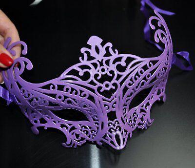 LILA SEXY filigran Maske Blume Augenmaske Venezianische Gesichtsmaske Karneval