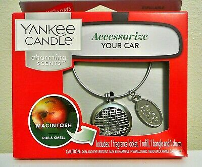 Yankee Candle CHARMING SCENTS CHARM BANGLE LOCKET Starter Kit MACINTOSH SCENT  Candle Starter Kit Fragrance