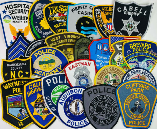 25 Police Sheriff Security Patches Collection Patch Lot (62021-D)