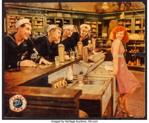 """Movie Poster True to the Navy 1930 Jumbo Lobby Card 11""""x17"""" F+ 6.5 Clara Bow"""