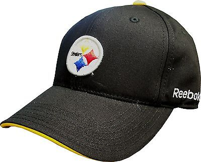 Pittsburgh Steelers Reebok Youth Basic Black Hat - Size Youth 4-7 Years on sale