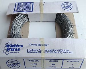 1.57mmx30m Barbed Wire (Handy Roll)