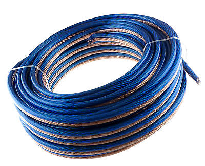 12 Gauge 50' Feet Speaker Wire Blue&clear Home/car Fast Free Usa Shipping 12awg