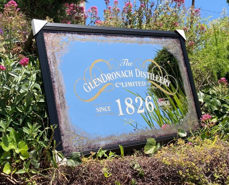 Glendronach Distillery Whiskey Beer Bar Mirror Man Cave Pub