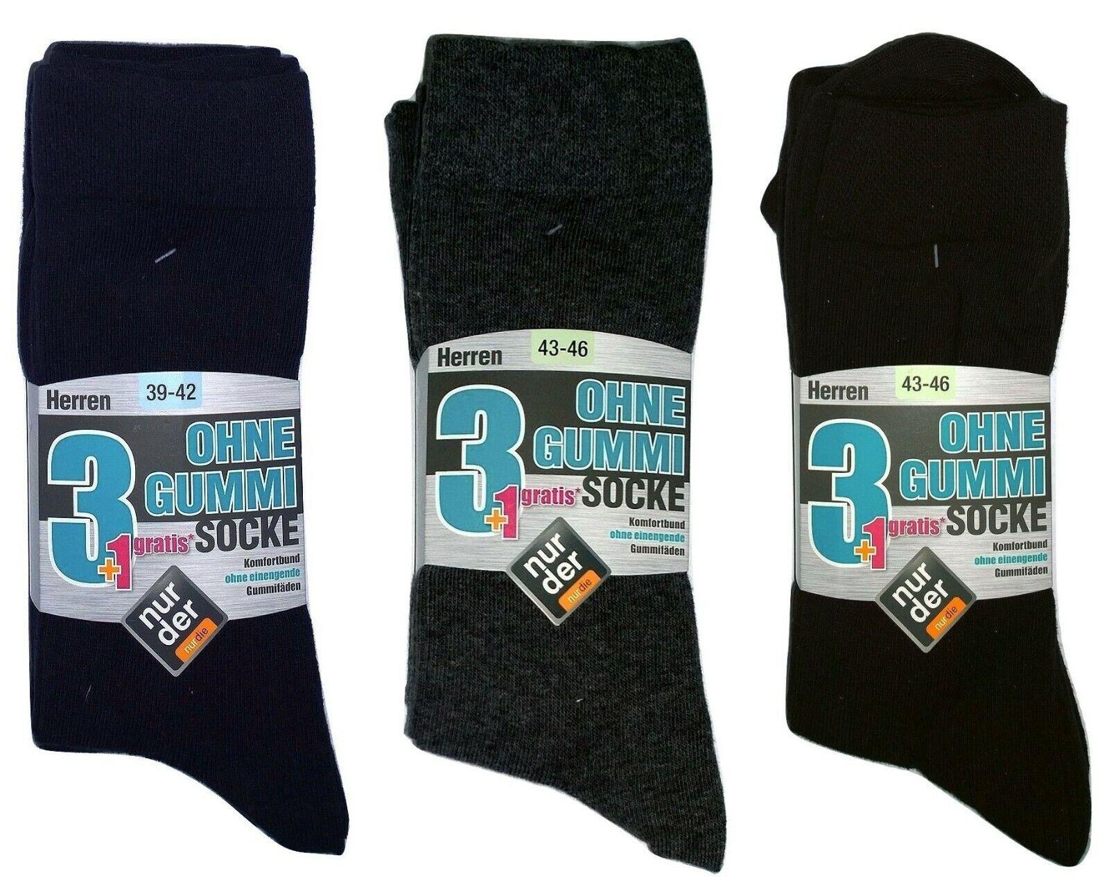 Nur Der Herren Socken Komfortbund ohne Gummi 4er Pack