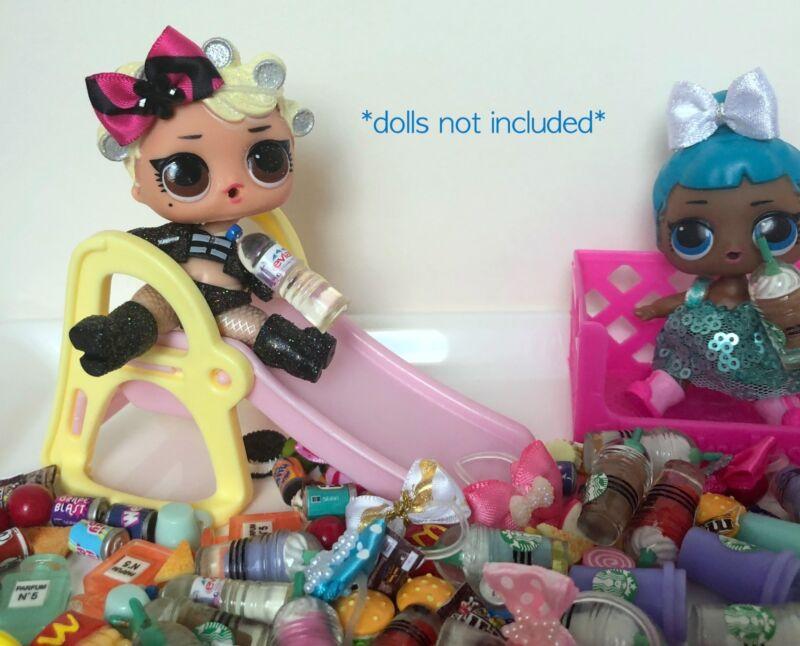 6 PC Lot ❤️ LOL SURPRISE CUSTOM Bow Doll Accessories Food Starbucks ❤️