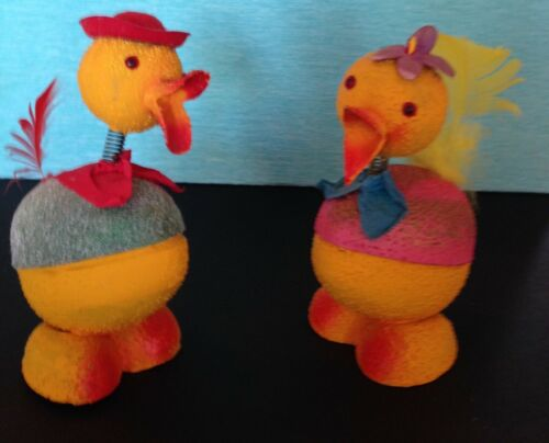 Vintage W. German Easter Duck and Chick Candy Containers