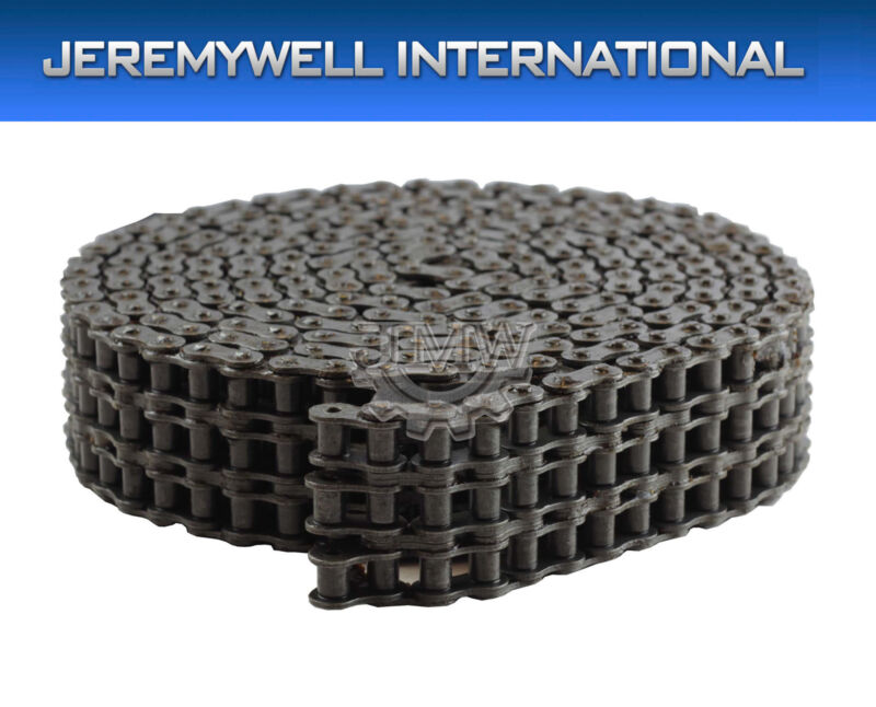 #80-3 Triple Strand Roller Chain 10 Feet with 1 Connecting Link